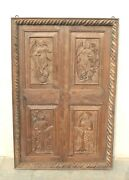 Old Vintage Handcarved Wooden Wall Hanging Panel Wall Art Antique Home Decor