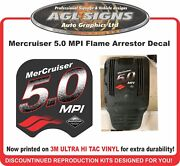 Mercruiser 5.0 Mpi Flame Arrestor Replacement Decal 5.7 Available
