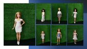50 Pcs Assorted Dolls Fashion Australian Handmade Dresses Outfit For Regular And