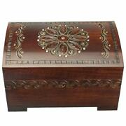 Enchanted World Of Boxes Large Polish Wooden Chest Handmade W/ Lock And Key