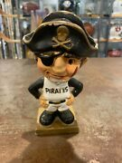 Mlb 1960and039s Vintage Pittsburgh Pirates Mascot Bobble Head Gold Square Base Chip