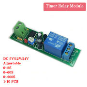Dc 5-24v Delay Relay Shield Ne555 Timer Switch Module 0 To 200 Second Adjustable
