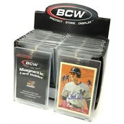 Box / 20 Bcw 35 Point Uv Protected Magnetic Thick Trading Card Holders One Touch