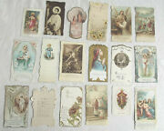 18 Antique/vintage Holy Cards Contour Scalloped Edge Special Effects Very Clean