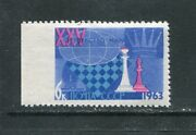 Stamps Ussr 1963 Variety Missing Perforation Chess