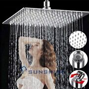Luxury 12 Square Stainless Steel Shower Head High Pressure Rain Water Saving
