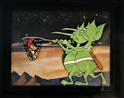 Woody Woodpecker In Mars /in The Moon 1956 Original Production Cel And Background