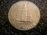 Error J.f.k. Bicentennial Half Dollar Coin Independence Hall Look Very Rare