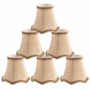 Wall Ceiling Clip On Lamp Shades Light Cover Beige 3x5.3x4.7 Inch Set Of 6