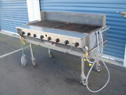 Magi Caterer Charbroiler With S/s Stand On Casters Propane Gas Bbq Grill 60 Inch