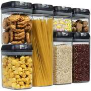 Plastic Food Jar Container Set For Storage Nut Snack Pasta Air Tight Candy Best