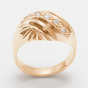 18ct Rose Gold Cubic Zirconia Womens Band Ring - Sizes J To Z