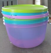 Set Of 3 New Tupperware Bowls-purple-2.4l Teal-2.3l Lime Green-2 L-great Gift