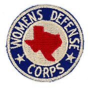 Ww2 Wwii Us Home Front Texas Womens Defense Corps Patch Ssi Very Rare
