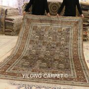 Yilong 6and039x9and039 Porch Handmade Silk Rug Four Seasons Pattern Bedroom Carpet 032m