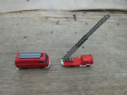 Wiking Fire Truck With Rotating Extension Ladder And Van With Ladder 2
