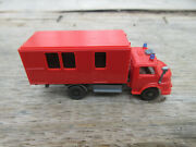 Wiking Mercedes Fire Truck Box Container N Scale 3 1/4