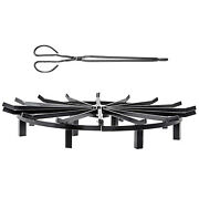 Round Wheel Fire Gratefire Pit Log Grate 12/16/20/24/28/32/36/40 Inch Fire Pit