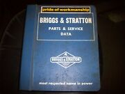 Briggs And Stratton Parts And Service Data 4 Cycle Gasoline Engine Manual Ms-3222