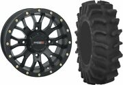 Mounted Wheel And Tire Kit Wheel 20x6.5 4+2.5 4/156 Tire 34x9-20 8 Ply