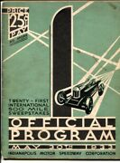 Indianapolis Motor Speedway Indy 500 Race Program 5/30/1933-