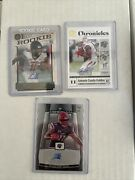 Antonio Gandy Golden Autograph Lot 3 Cards-obsedian-legacy-chronicles