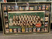 1960 Pirates Iron City Beer Team Photo Bar Standee 40x27 Framed With All Cards