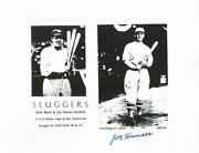Autographed 1924 Home Run King Joe Hauser Old Time Baseball Photo,with Babe Ruth