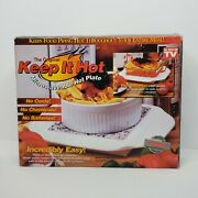 The Original Keep It Hot Microwaveable Hot Plate Solid Granite Core In Box