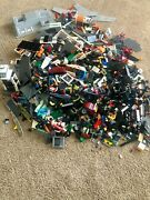 Genuine Lego Bulk 29 Lbs-figures, Wheels, Plates, Accessories From Various Set