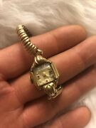 Vintage Ladies Watch Essex 8 Diamond 4 Ruby10k F.f. Case Swiss Made In 1950and039s