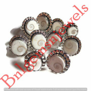 Shiva Shell Rings Sterling Silver Plated Ring Handmade Jewelry.