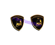 Lamborghini Style Seat Gold Emblem Logo Badge Set All Lamborghini Vehicles 2 Pcs