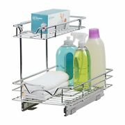 Slide Out Drawer Cabinet Organizer Andndash Perfect For Vanity Two Tier Sliding Shelves