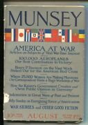 The Munsey 8/1917-special War Issue-wwi-flag Cover-the Coffin-jobbers By Eu...