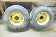 64 Ford 4000 Diesel Tractor Front Wheels Rims And Tires