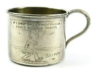 Antique Skippy Comics Silver Baby Cup Inch Taller To Join The Scouts 3126