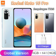 6.67and039and039 Xiaomi Redmi Note 10 Pro Snapdragon 732g 64gb / 128gb Fast Charging Phone