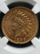 1896 Indian Head Cent Ngc Unc Details- Free Shipping