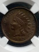 1889 Philadelphia Mint Indian Head Cent Ngc Unc Details- Free Shipping