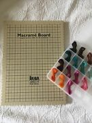 Micro Macrame Kit Including Macrame Board And Waxed Polyester Cord 1 Mm