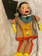 Antique Howdy Doody Marionette Princess Summer Fall Peter Puppet Playthings Toy