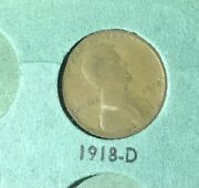 1918 D Lincoln Wheat Penny