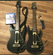 Guitar Hero Live Bundle Ps4 Two Guitars, Two Dongles, Two Straps, And Game