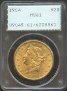 1904 20 Liberty Gold Double Eagle Ms 61 Pcgs Old Rattler Holder Very Pq