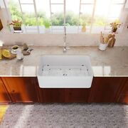 30 Inch Kitchen Sink Apron Front Farmhouse Sink Single Bowl Farm Sink Basin