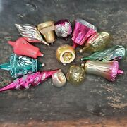Soviet Christmas Toy, Set Of 13 Pieces, Bells And Icicles, Glass Toy, Christmas