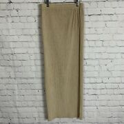 Vintage Issey Miyake Pleated Accordion Maxi Style Beige Skirt Size Small