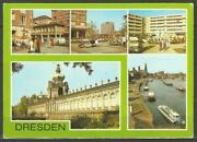 Postcard East Germany Dresden Multiview Zwinger Pirna Square Elbe - Posted 1980s