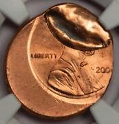 2000 Ngc Ms65rd Off Center Indent Wide Am Lincoln Cent Mint Error Type 2 Proof R